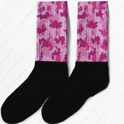 SOCKS - PINK CAMO FULL COLOR ATHLETIC OR COMPRESSION SOCKS