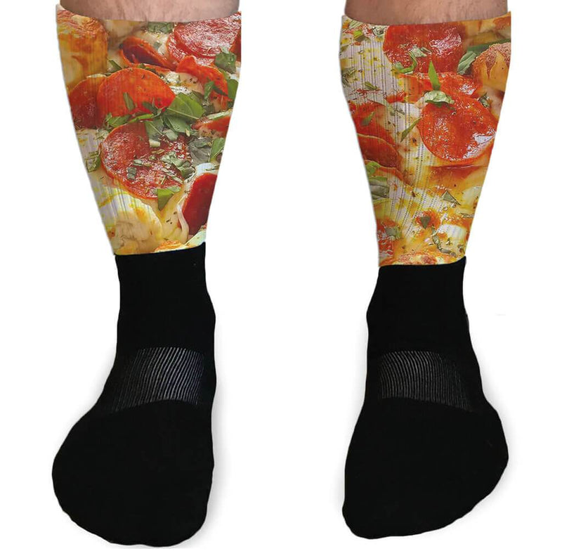 SOCKS - PIZZA DAY FULL COLOR GRAPHIC ATHLETIC OR COMPRESSION SOCKS