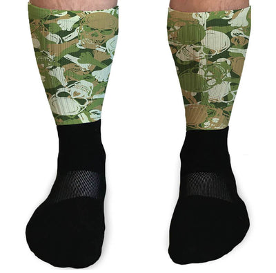 SOCKS - SKULL CAMO STYLE ATHLETIC OR COMPRESSION SOCKS