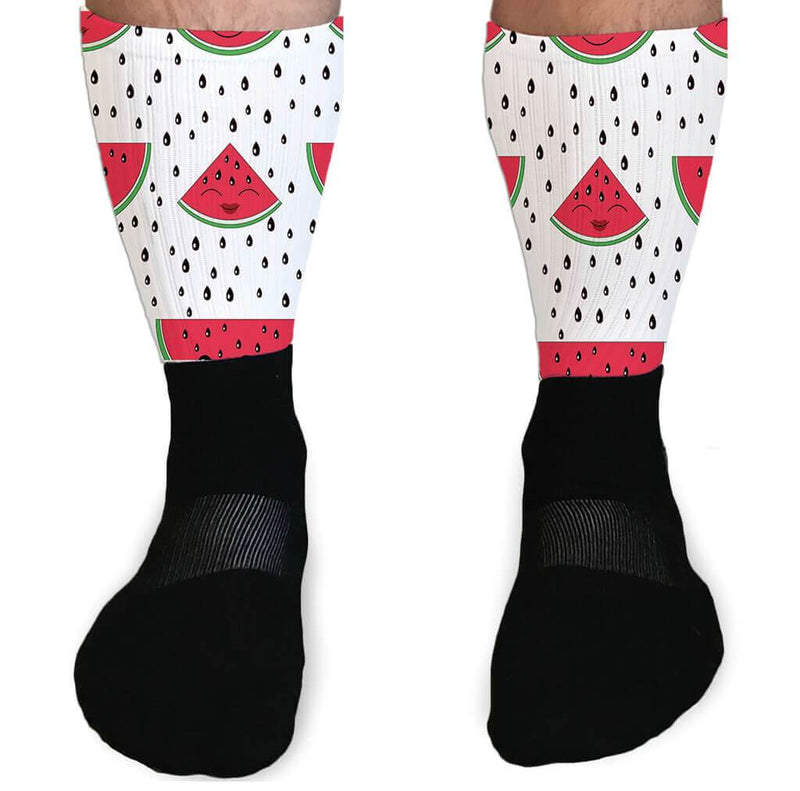SOCKS - SUMMER SLICE WATERMELON ATHLETIC OR COMPRESSION SOCKS
