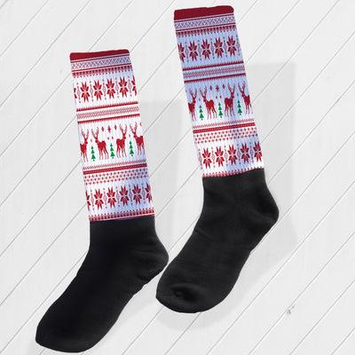 SOCKS - UGLY CHRISTMAS SWEATER ATHLETIC/COMPRESSION SOCKS