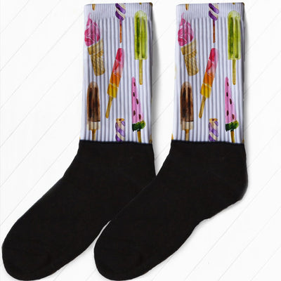 SOCKS - WATERCOLOR POPSICLES GRAPHIC ATHLETIC OR COMPRESSION SOCKS