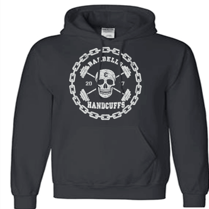 B & H SKULL LOGO HOODED SWEATSHIRT