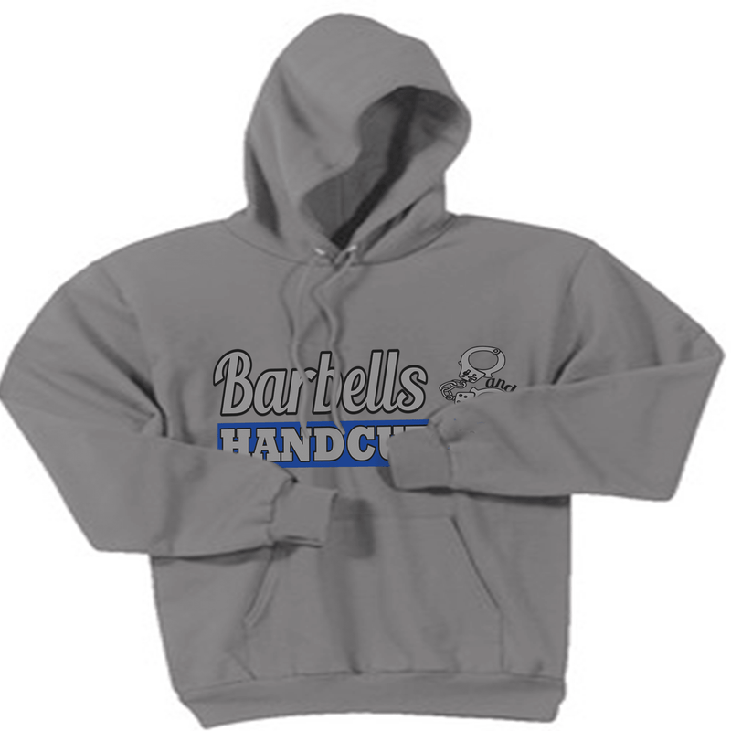 BARBELLS AND HANDCUFFS BLUE LINE LOGO HOODED SWEATSHIRT