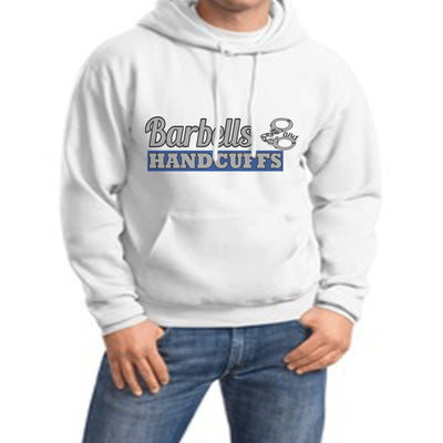 Sweatshirt - BARBELLS AND HANDCUFFS BLUE LINE LOGO HOODED SWEATSHIRT