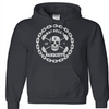 Sweatshirt - BARBELLS AND HANDCUFFS SKULL LOGO HOODED SWEATSHIRT