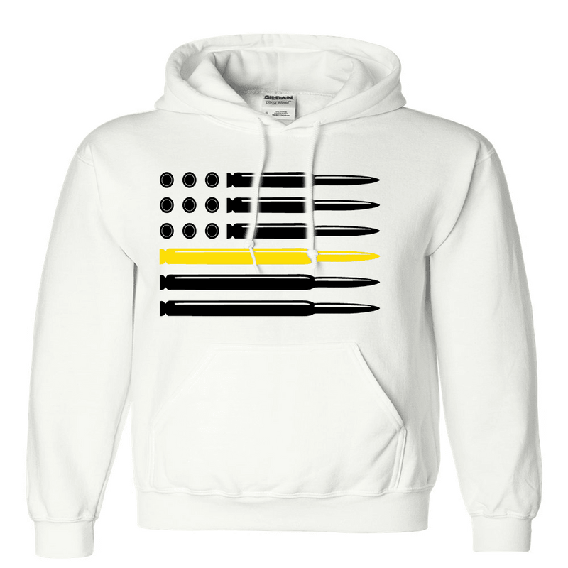 Sweatshirt - CUSTOM BULLET FLAG HOODED SWEATSHIRT