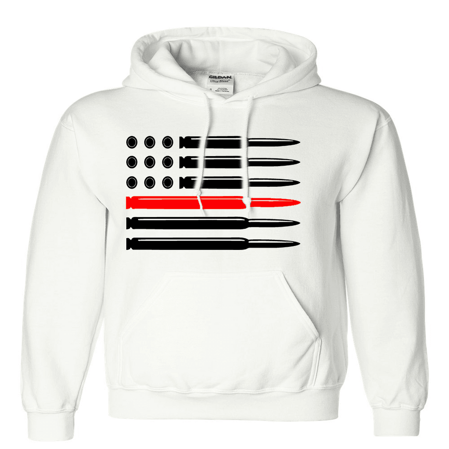 Sweatshirt - CUSTOM BULLET FLAG HOODED SWEATSHIRT/T-HOODIE