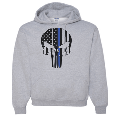 Sweatshirt - CUSTOM FLAG SKULL HOODED SWEATSHIRT/T-HOODIE