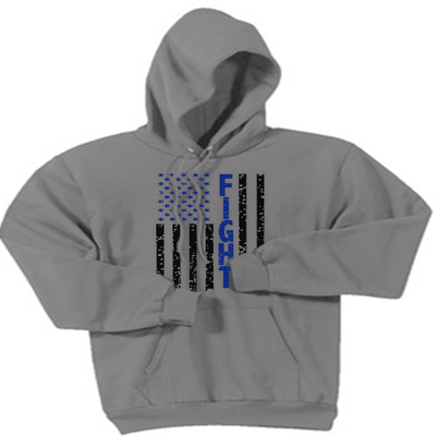 Sweatshirt - FIGHT FLAG HOODED SWEATSHIRT/T-HOODIE