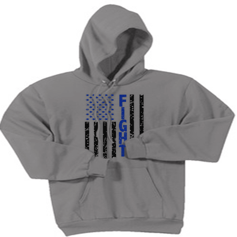 FIGHT FLAG HOODED SWEATSHIRT