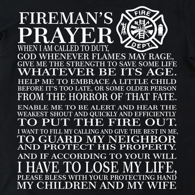 Sweatshirt - FIRE PRAYER HOODED SWEATSHIRT