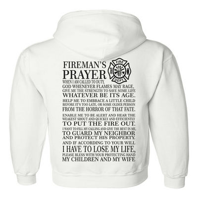 Sweatshirt - FIRE PRAYER HOODED SWEATSHIRT/T-HOODIE