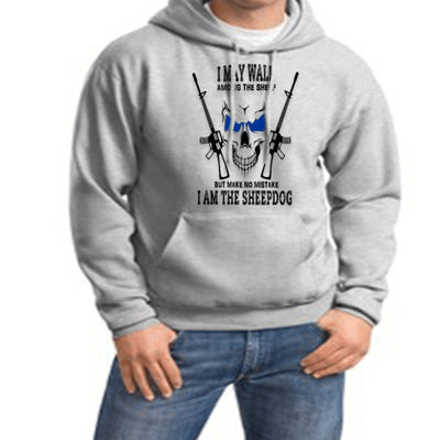 Sweatshirt - I AM THE SHEEPDOG HOODED SWEATSHIRT/T-HOODIE