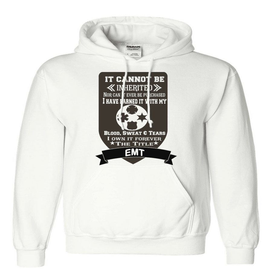 Sweatshirt - IT CAN'T BE INHERITED POLICE/FIRE HOODED SWEATSHIRT/T-HOODIE