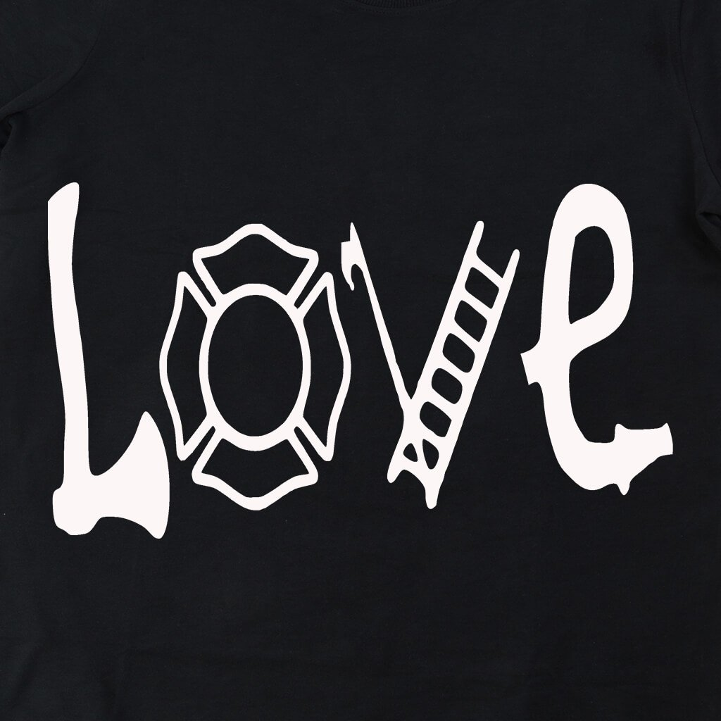 LOVE FIREFIGHTER HOODED SWEATSHIRT/T-HOODIE