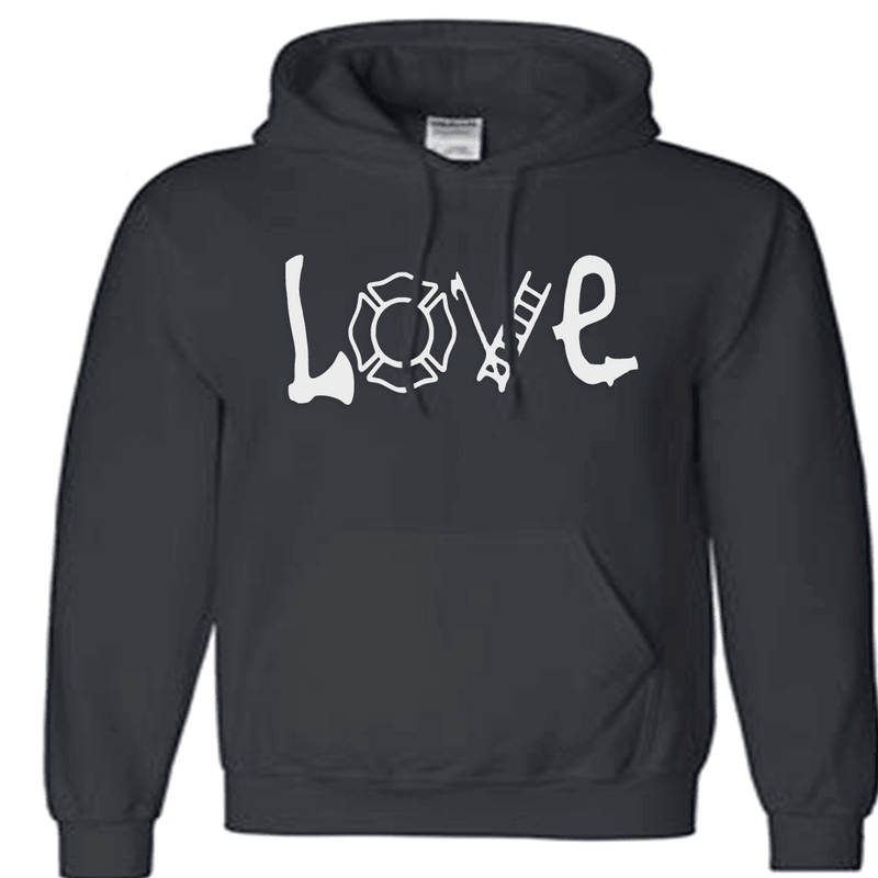Sweatshirt - LOVE FIREFIGHTER HOODED SWEATSHIRT/T-HOODIE