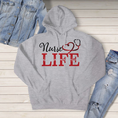 Sweatshirt - NURSE LIFE HOODED SWEATSHIRT