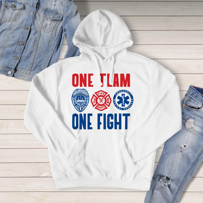 Sweatshirt - ONE TEAM ONE FIGHT HOODED SWEATSHIRT
