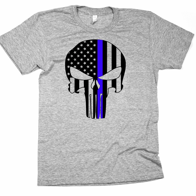 CUSTOM PATRIOTIC SKULL T-SHIRT