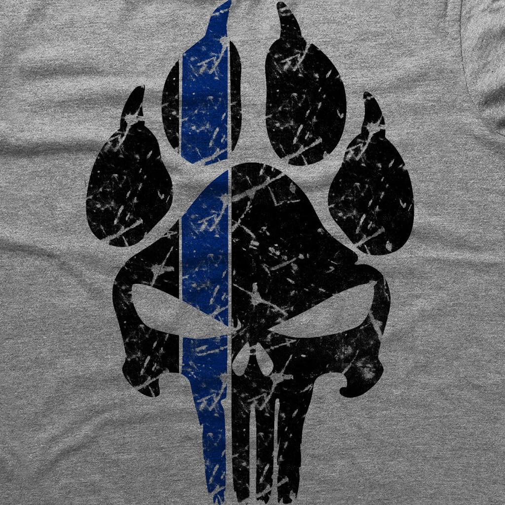 K9 PUNISHER PAW PRINT T-SHIRT