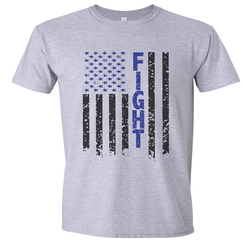FIGHT FLAG DISTRESSED T-SHIRT