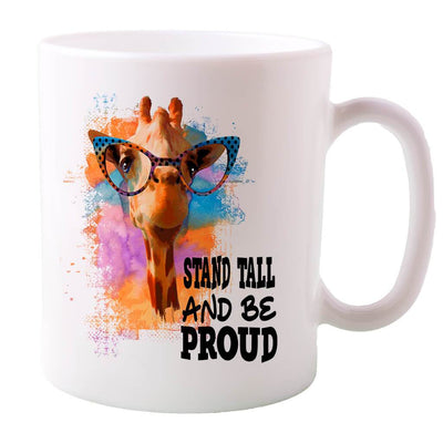 Tshirts With Designs - Stand Tall Giraffe Inspirational Mug
