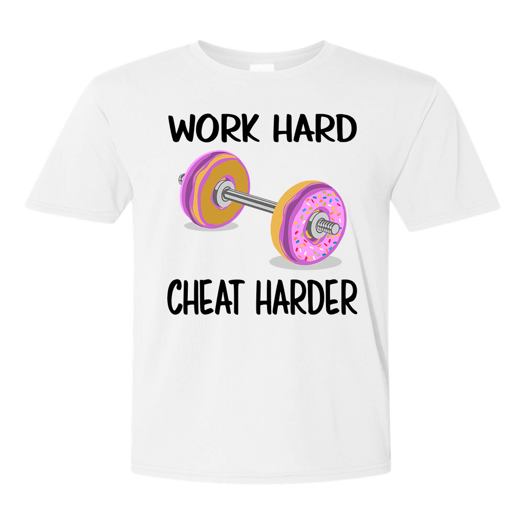 Tshirts - WORK HARD - CHEAT HARDER UNISEX FULL COLOR FUNNY T-SHIRT