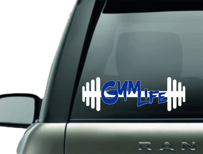 Vinyl Decal - GYM LIFE WORKOUT VINYL CAR DECAL
