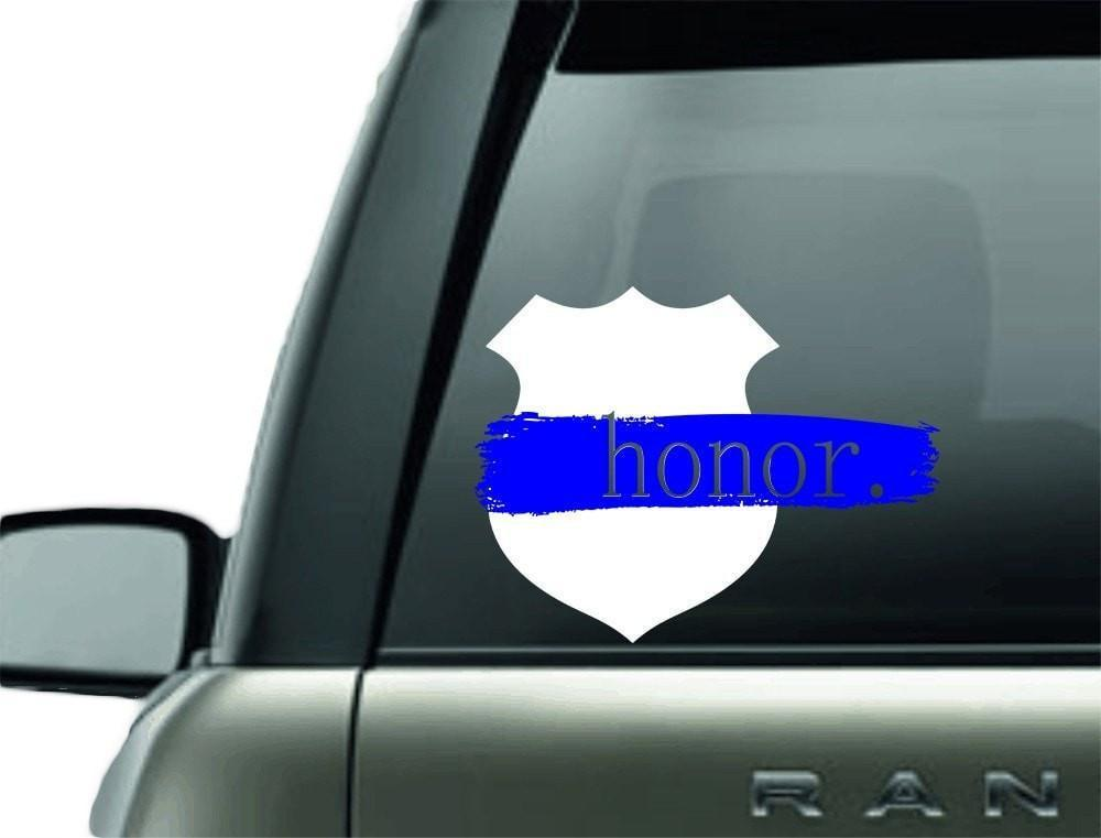 Vinyl Decal - HONOR POLICE SUPPORT VINYL CAR DECAL