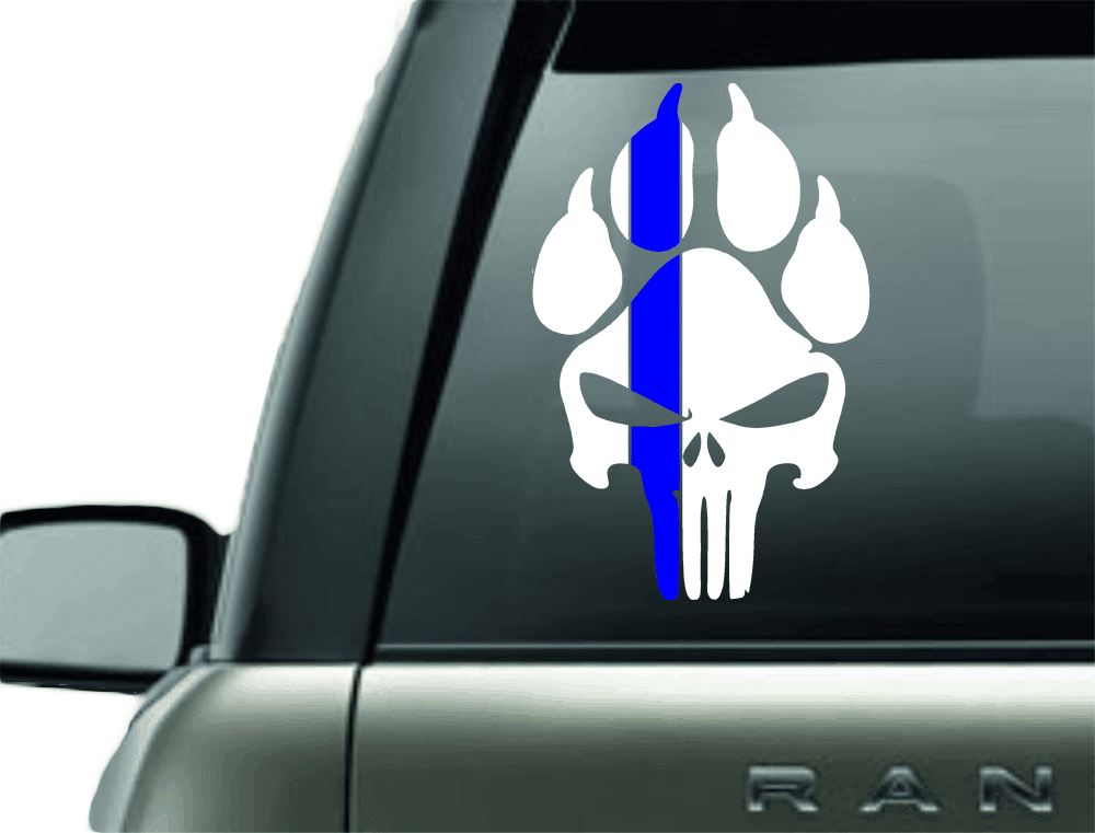 K9 Police Unit Vinyl Car Window Sticker K9 Decal Police Etsy