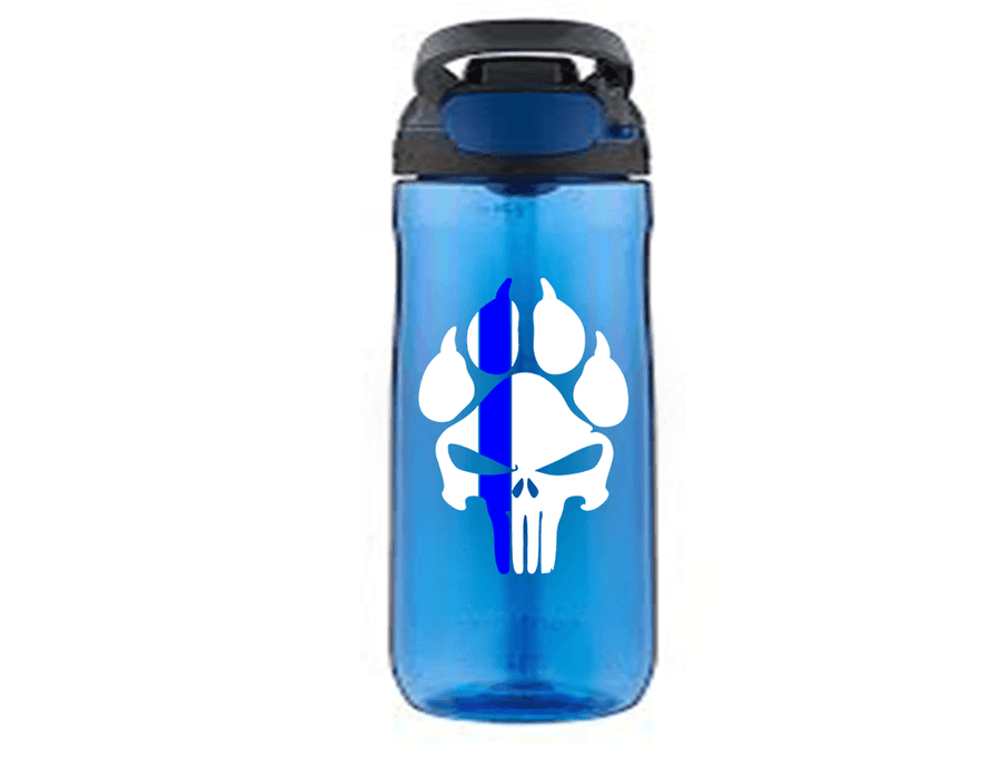 K9 PUNISHER PAW PRINT POLICE SUPPORT VINYL DECAL