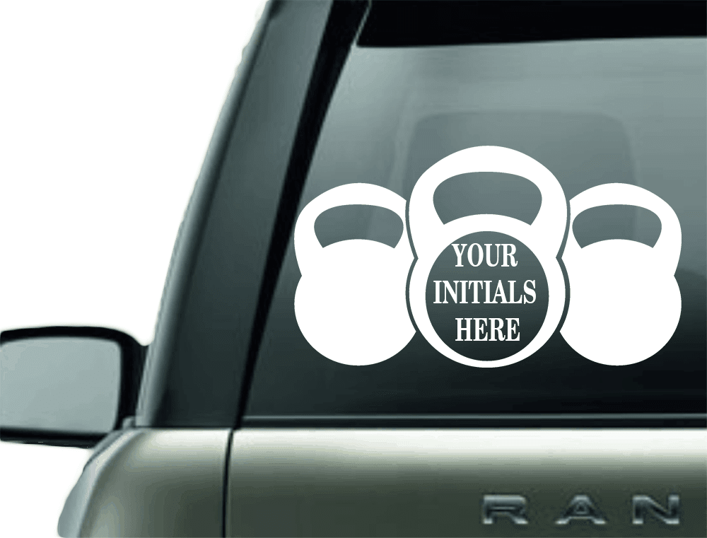 MONOGRAM CROSSFIT VINYL CAR DECAL