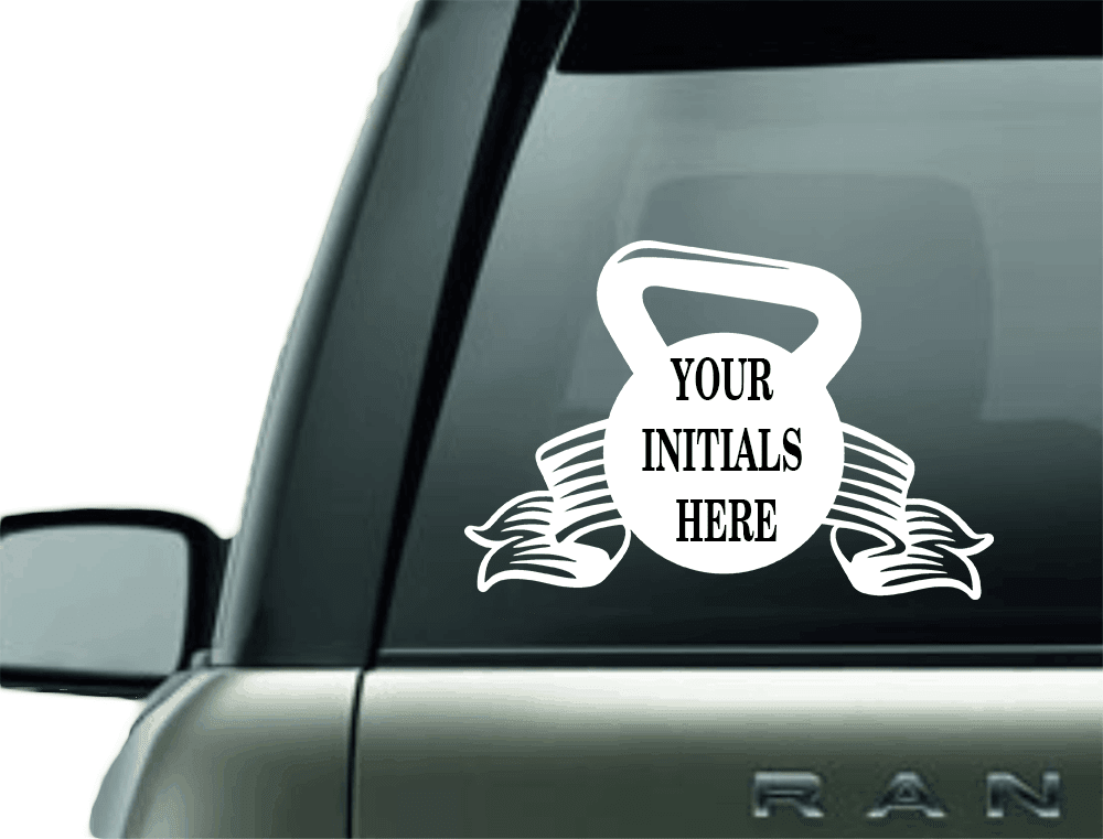 MONOGRAM KETTLEBALL VINYL CAR DECAL