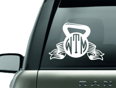 Vinyl Decal - MONOGRAM KETTLEBALL VINYL CAR DECAL