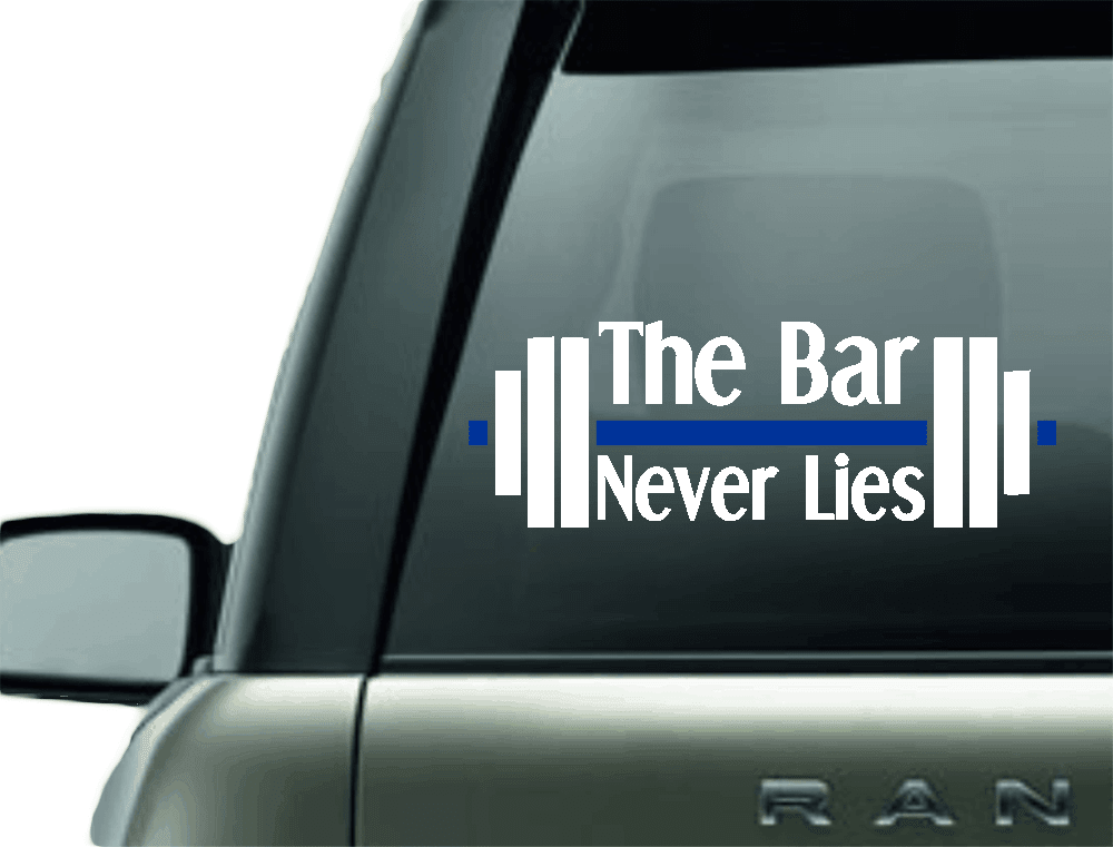 THE BAR NEVER LIES VINYL CAR DECAL