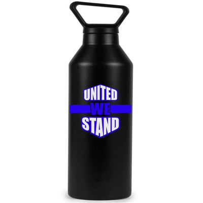 Vinyl Decal - UNITED WE STAND BLUE LINE LAW ENFORCEMENT SUPPORT VINYL DECAL