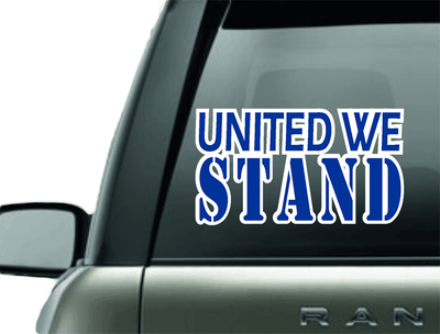 Vinyl Decal - UNITED WE STAND BLUE LINE SUPPORT VINYL DECAL