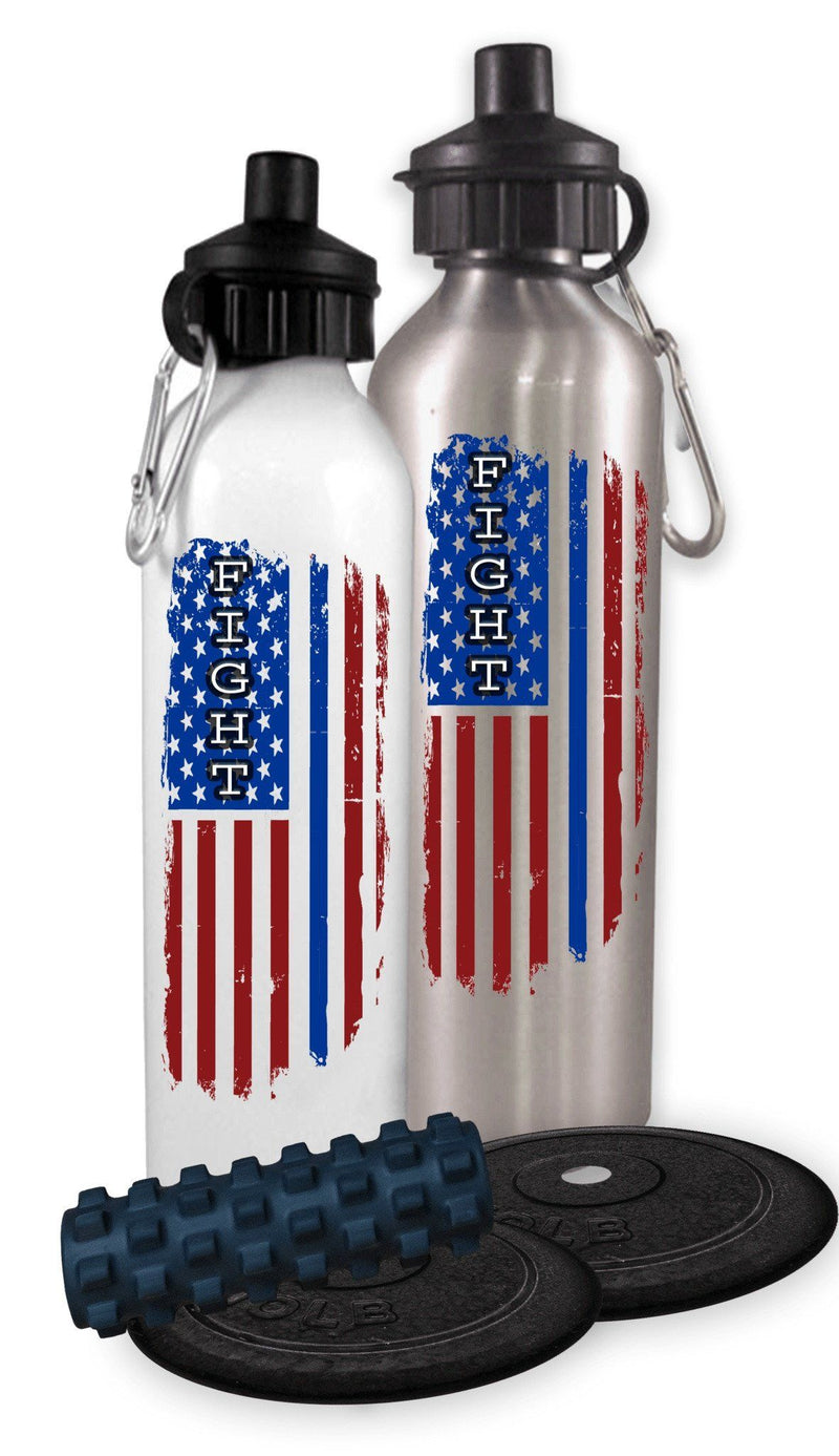 FIGHT FLAG POLICE SPORTS WATER BOTTLE