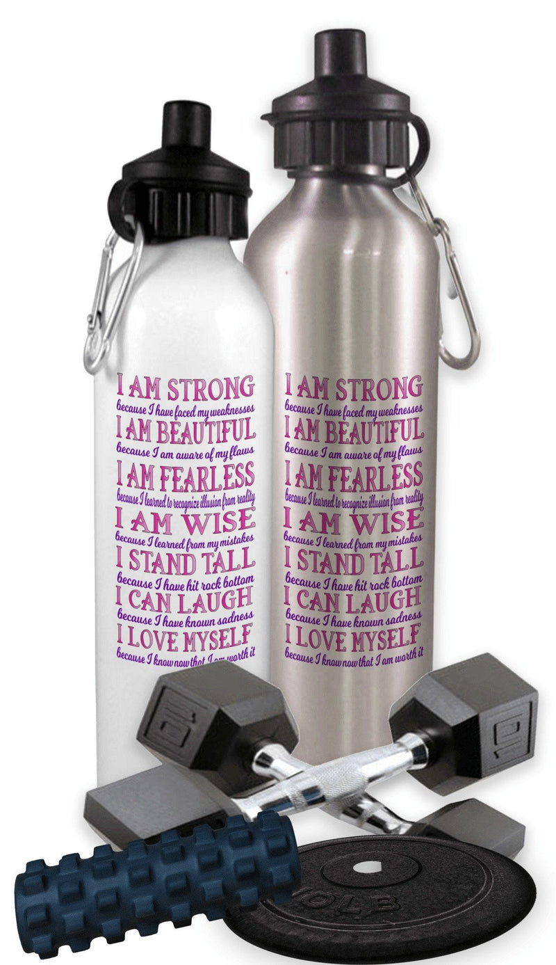 I AM STRONG SPORTS WATER BOTTLE