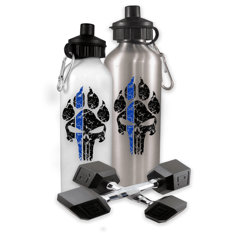 K9 PUNISHER PAW PRINT POLICE SPORTS WATER BOTTLE