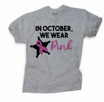 WE WEAR PINK POLICE BADGE SUPPORT SHIRT