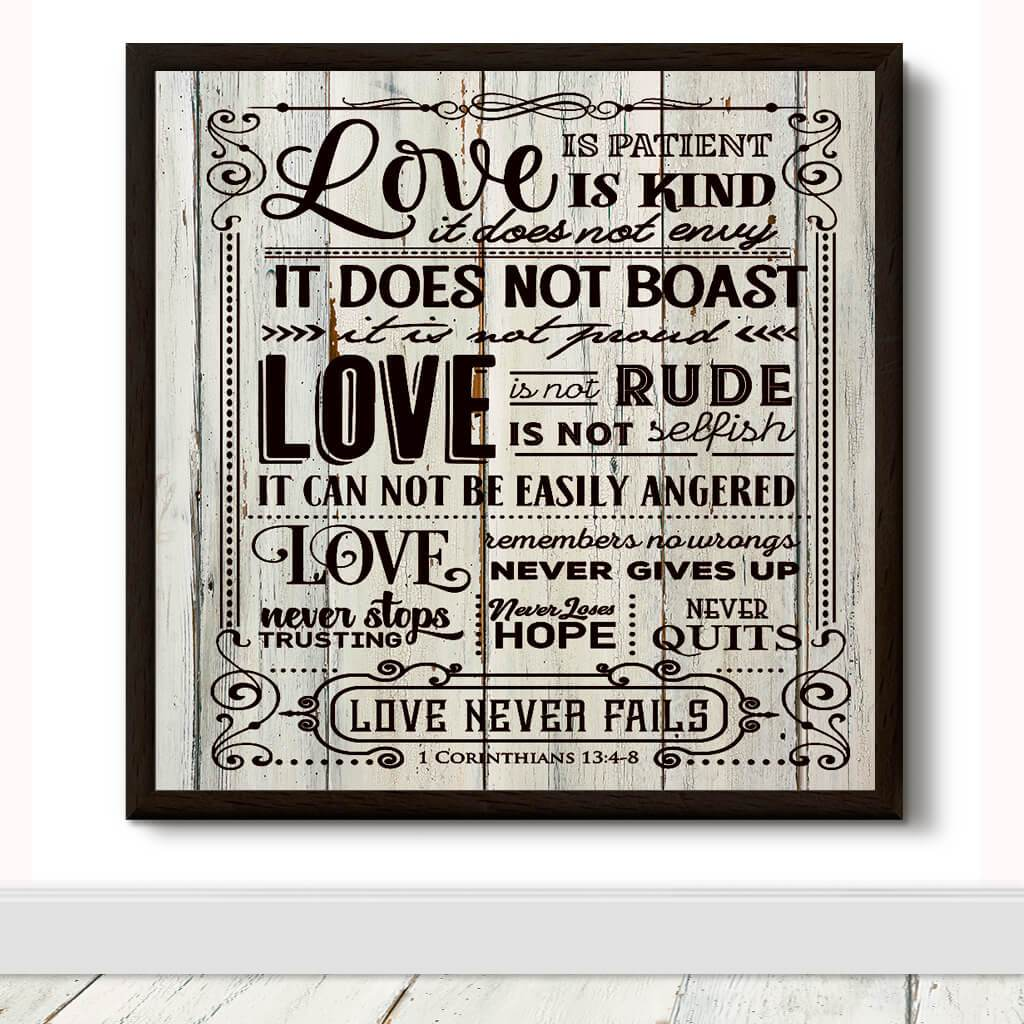 love is always patient and kind verse