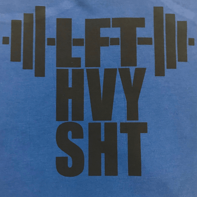 Workout Design - LIFT HEAVY SHIT VINTAGE STYLE WORKOUT SHIRT