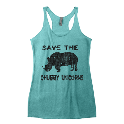 Workout Design - SAVE THE CHUBBY UNICORN DISTRESSED STYLE SHIRT