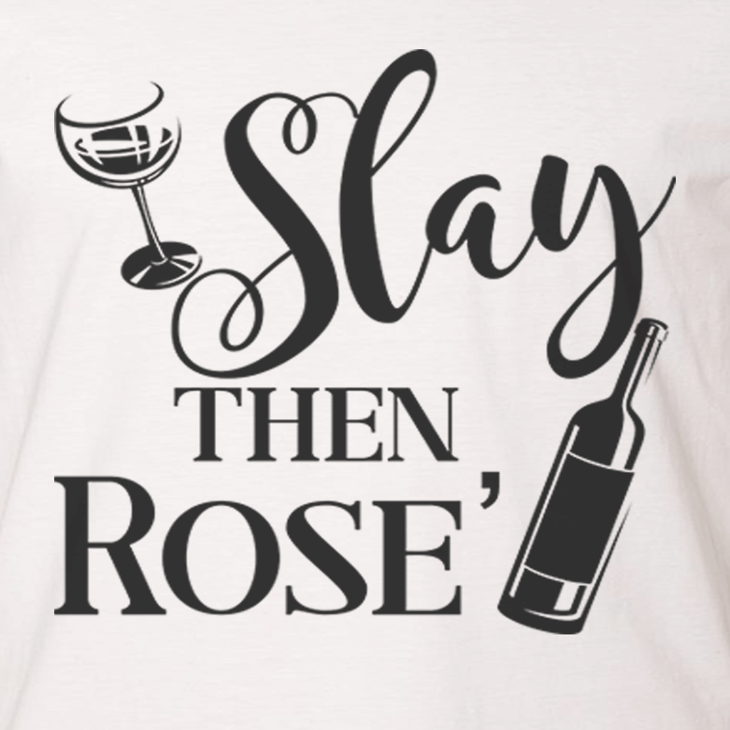 SLAY THEN ROSE' FUNNY ATHLETIC SHIRT