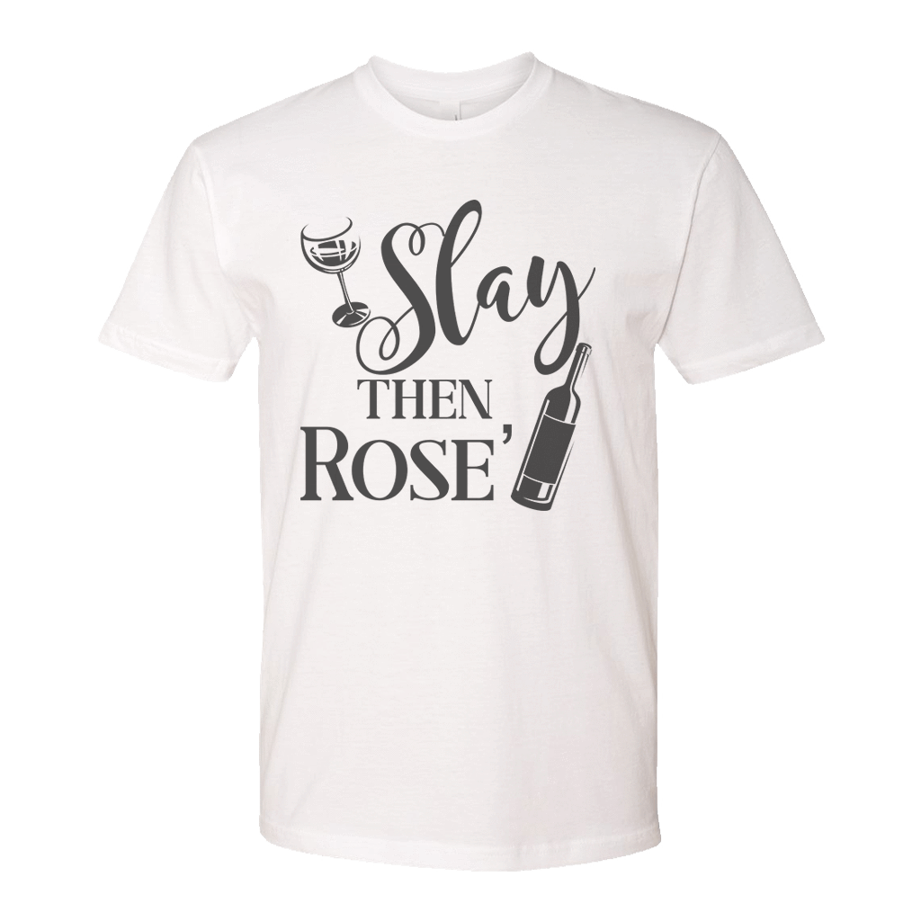 Slay Then Rose Funny Athletic Shirt Barbells And Handcuffs