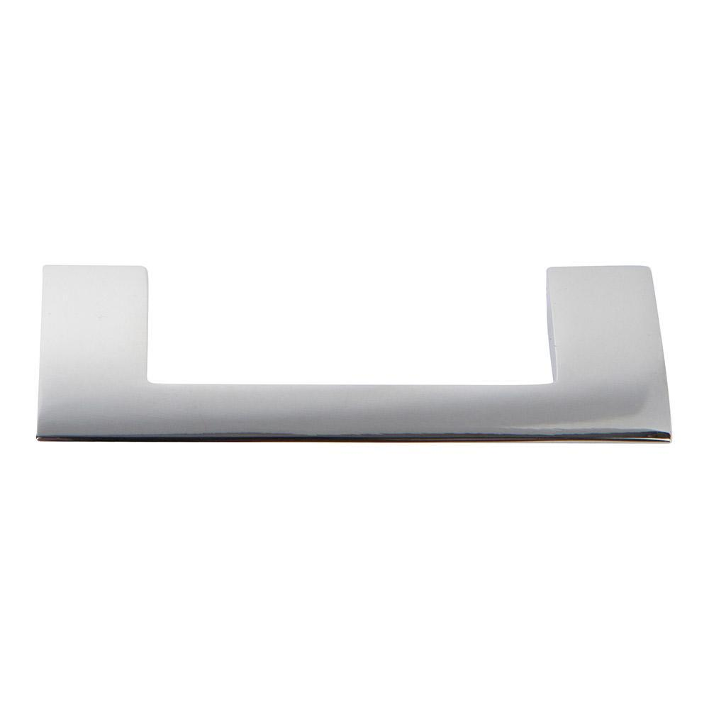 Atlas Homewares Angled Drop Cabinet Pull Brushed Nickel, 3-9/16 in