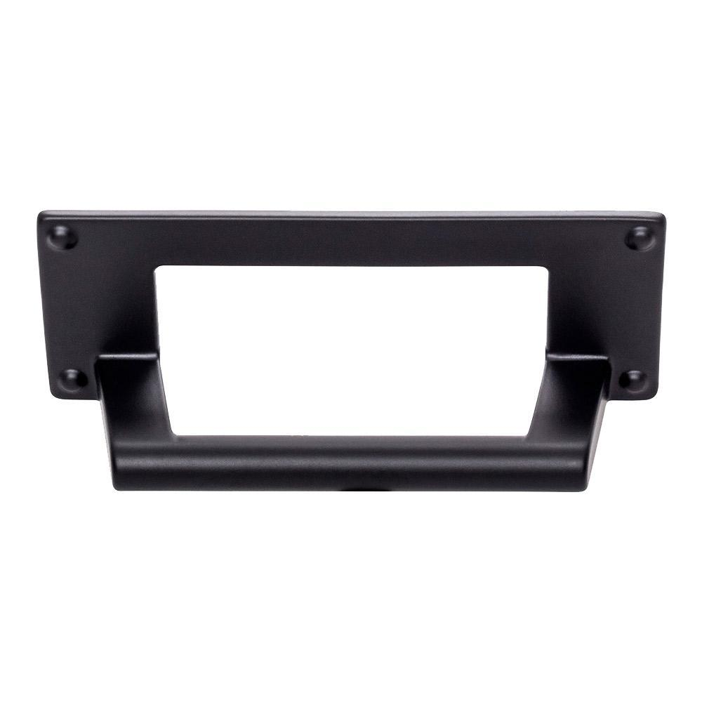 Atlas Homewares Bradbury Cup Cabinet Pull Matte Black , 4-5/16 in