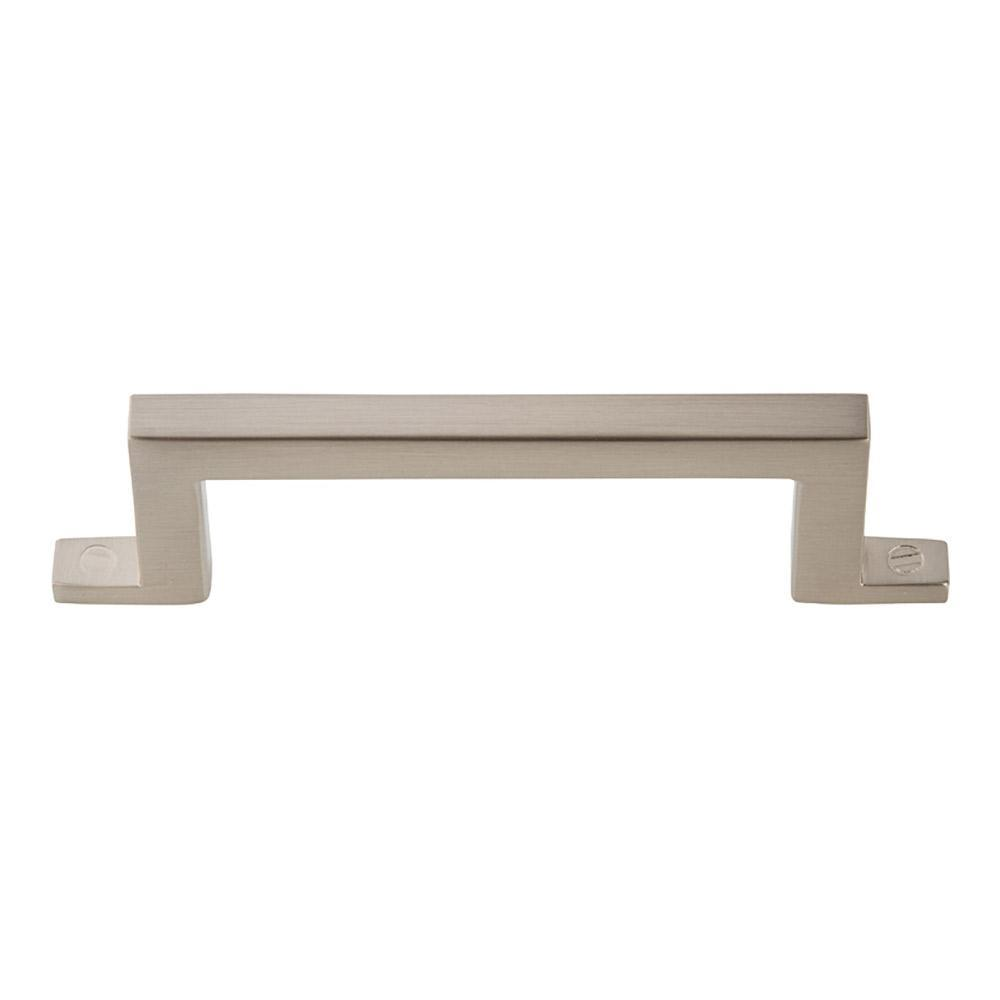 Atlas Homewares Campaign Bar Cabinet Pull Brushed Nickel, 4-3/16 in